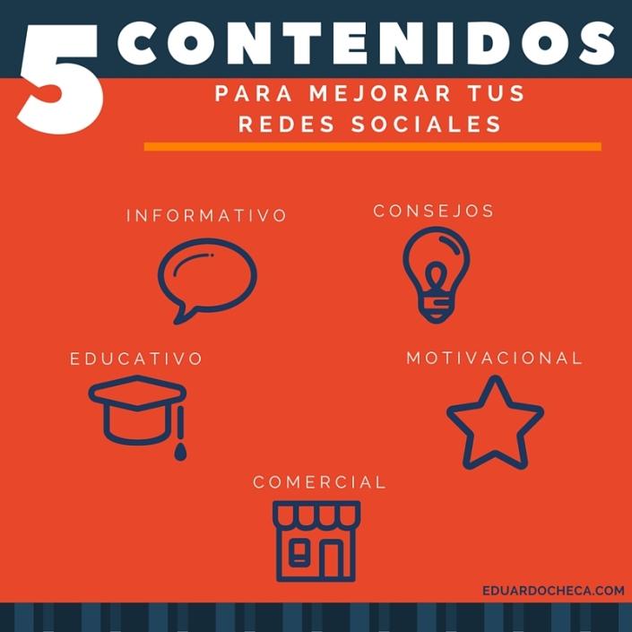 5 contenidos para mejorar tus Redes Sociales